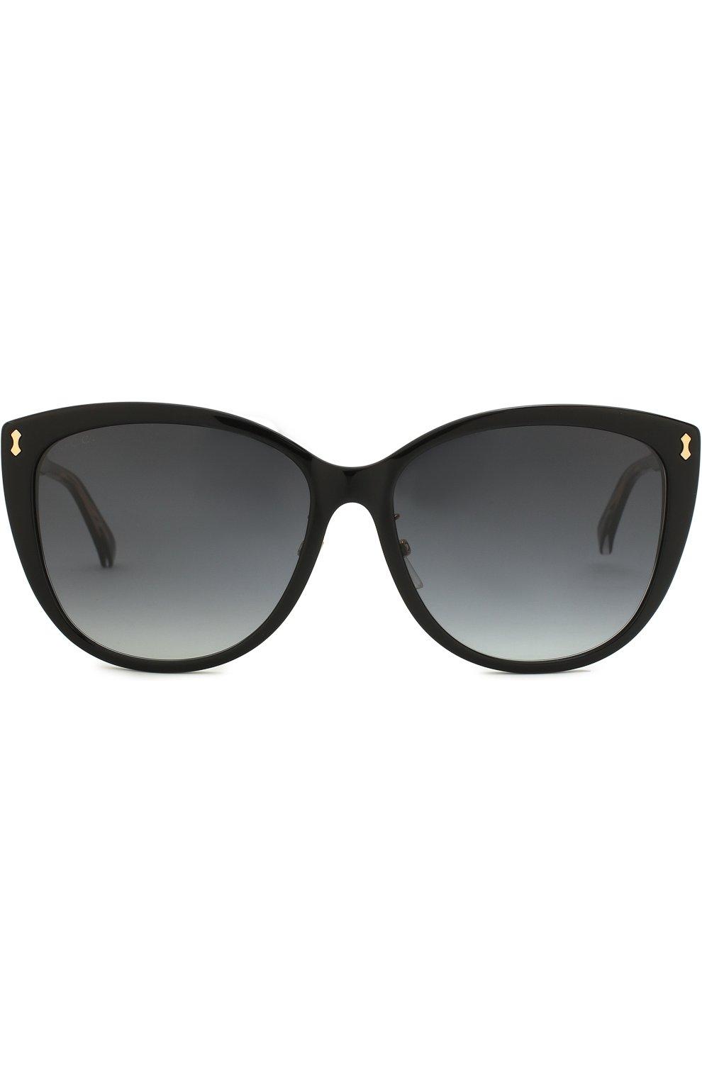Женские солнцезащитные очки GUCCI черного цвета, арт. GG0193SK 001 | Фото 3