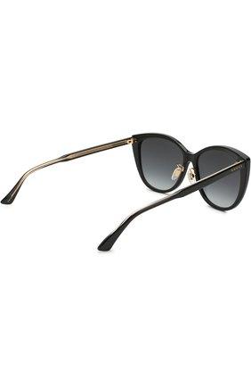 Женские солнцезащитные очки GUCCI черного цвета, арт. GG0193SK 001 | Фото 4