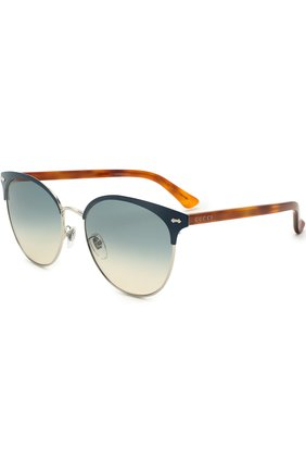Женские солнцезащитные очки GUCCI разноцветного цвета, арт. GG0198SK 004 | Фото 1