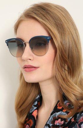 Женские солнцезащитные очки GUCCI разноцветного цвета, арт. GG0198SK 004 | Фото 2