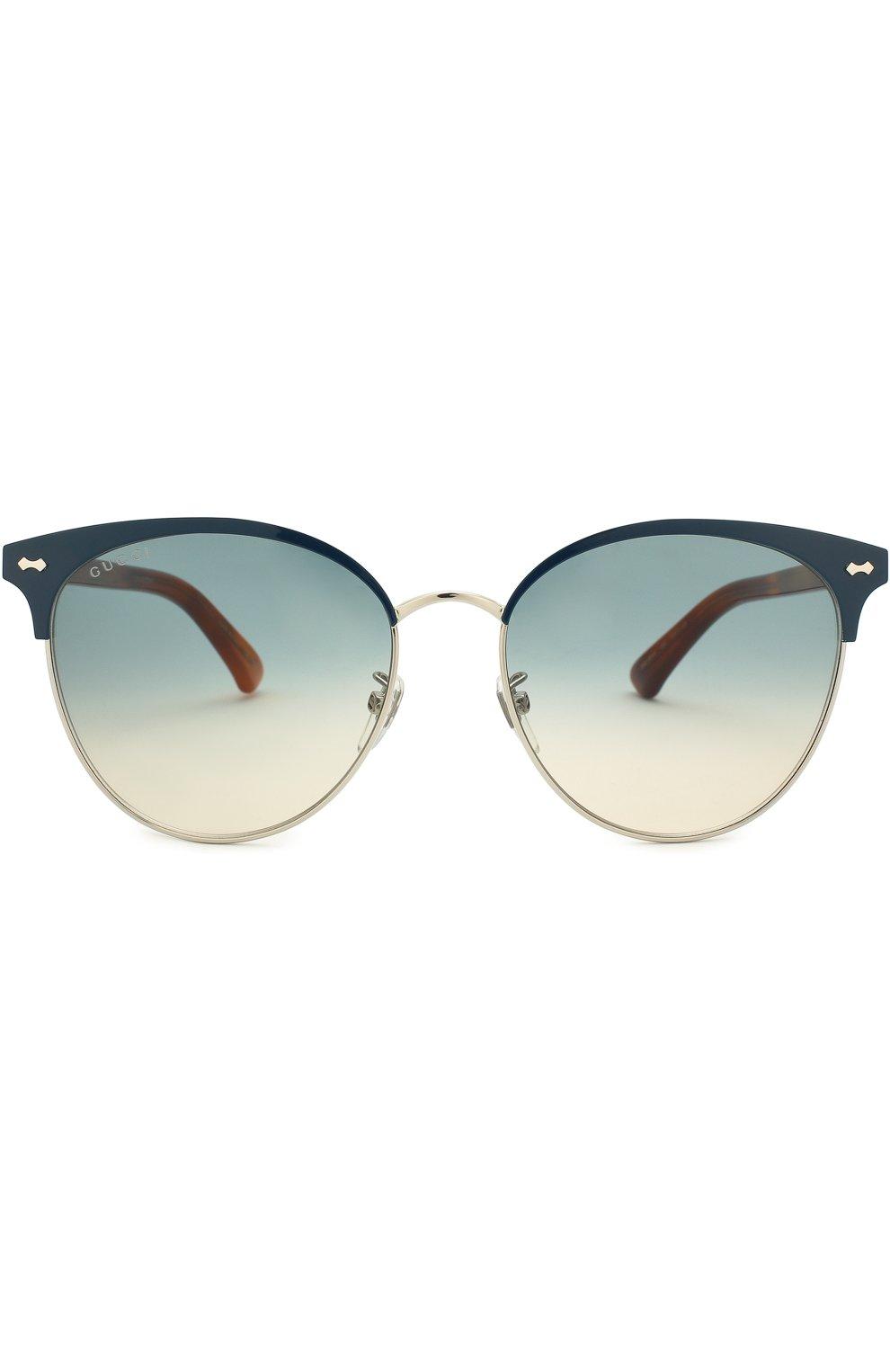 Женские солнцезащитные очки GUCCI разноцветного цвета, арт. GG0198SK 004 | Фото 3