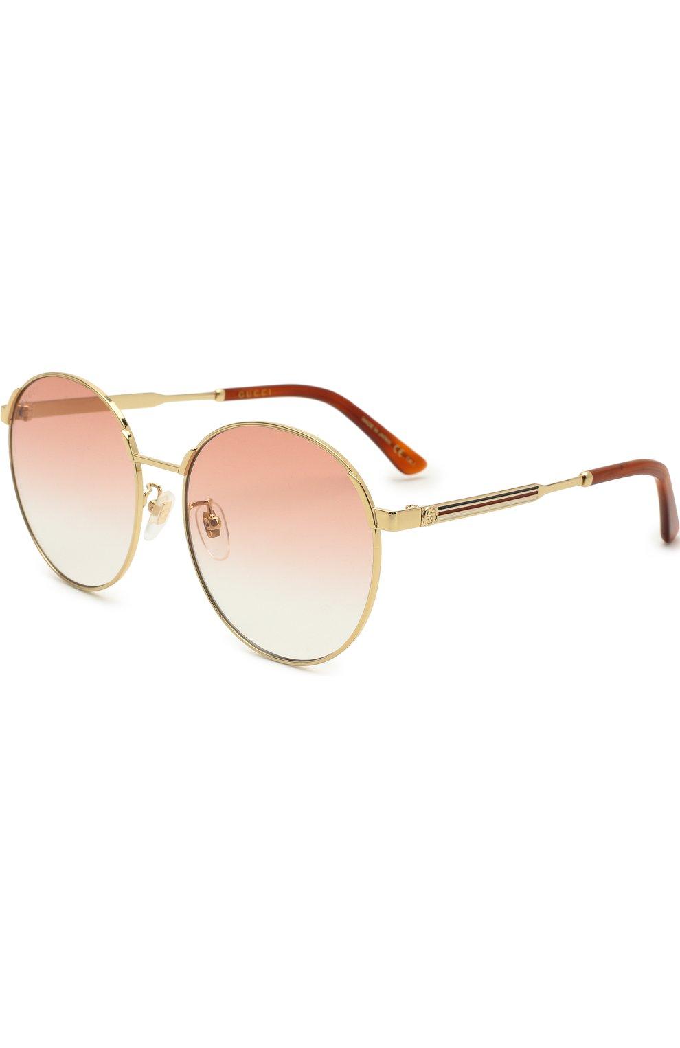 Женские солнцезащитные очки GUCCI красного цвета, арт. GG0206SK 004 | Фото 1