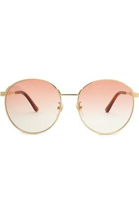 Женские солнцезащитные очки GUCCI красного цвета, арт. GG0206SK 004 | Фото 3