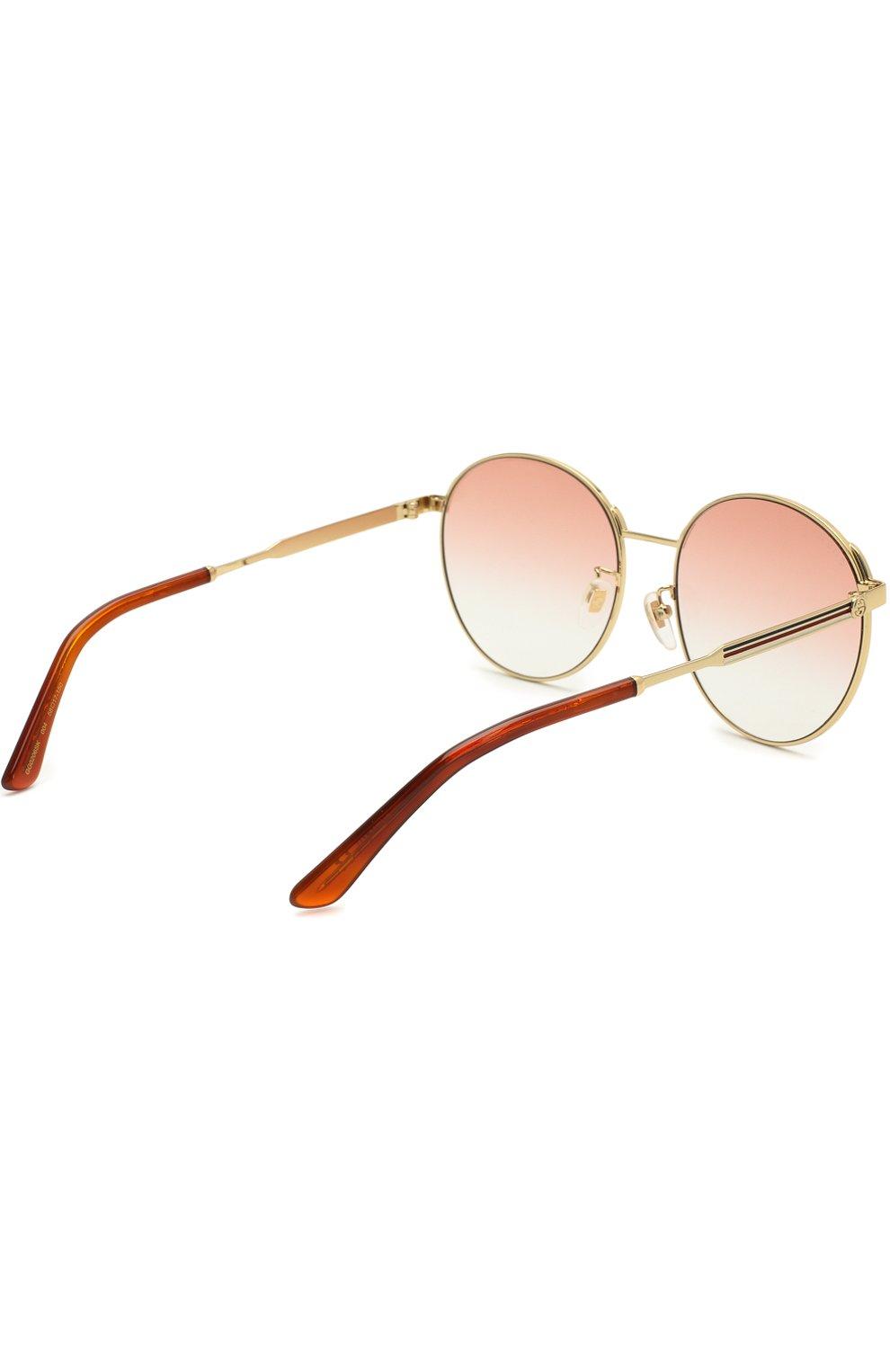 Женские солнцезащитные очки GUCCI красного цвета, арт. GG0206SK 004 | Фото 4