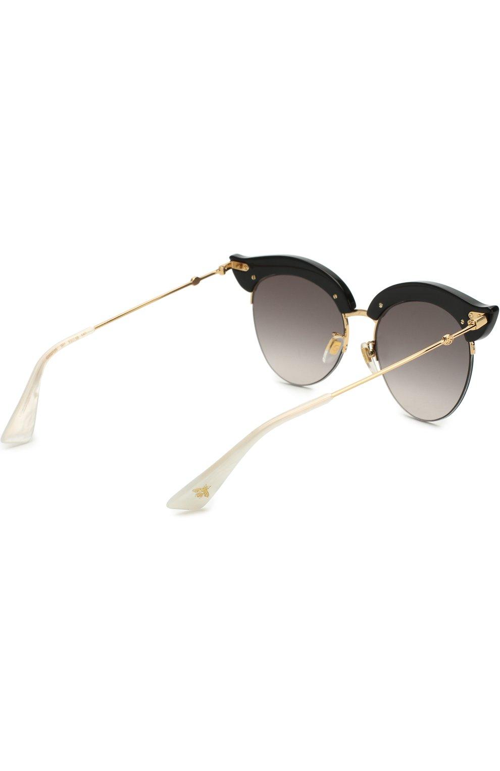 Женские солнцезащитные очки GUCCI черного цвета, арт. GG0212 001 | Фото 4