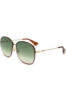 Солнцезащитные очки Gucci разноцветные | Фото №1
