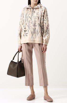 Текстильные лоферы с плетением AGL пепельно-розовые | Фото №1