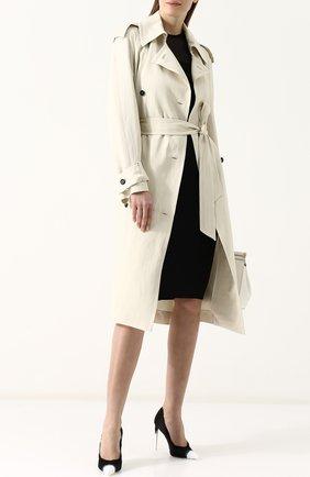 Женские шелковые туфли frayed с бахромой на шпильке TOM FORD черно-белого цвета, арт. W2242T-SDY | Фото 2