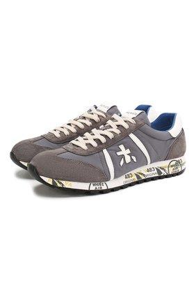 Мужские комбинированные кроссовки lucy PREMIATA светло-серого цвета, арт. LUCY/VAR618E | Фото 1