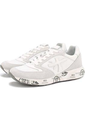 Комбинированные кроссовки Zac на шнуровке | Фото №1