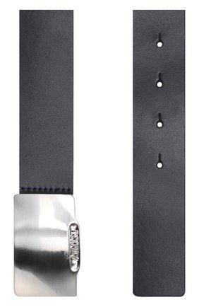Кожаный ремень с металлической пряжкой | Фото №2