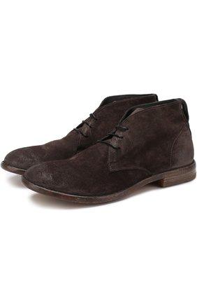 Замшевые ботинки на шнуровке Moma коричневые   Фото №1