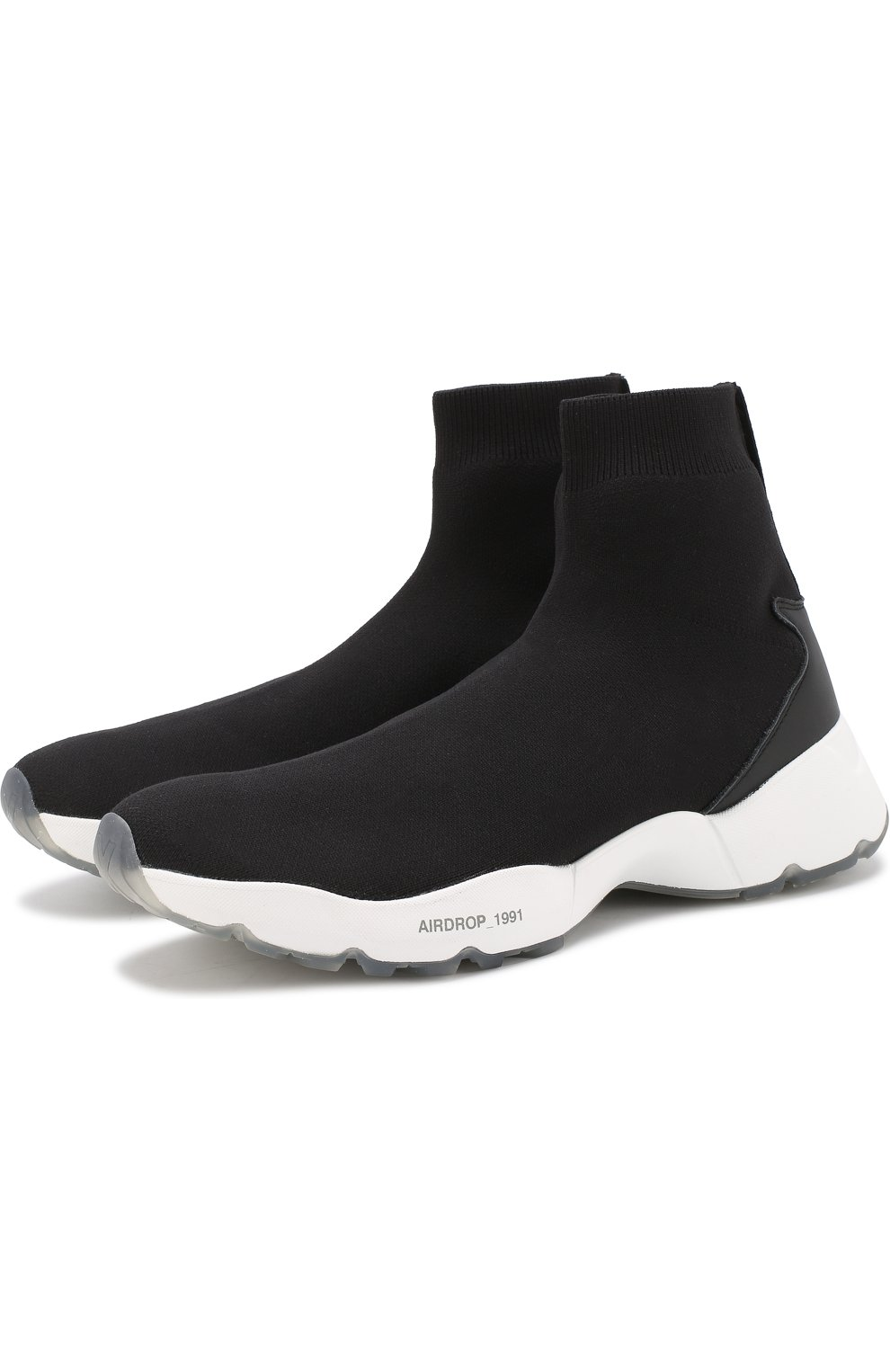 Текстильные кроссовки с контрастной подошвой | Фото №1