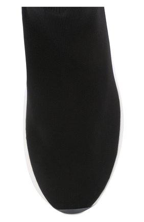 Текстильные кроссовки с контрастной подошвой O.X.S. черные | Фото №5