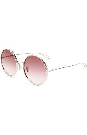 Солнцезащитные очки Elie Saab серебряные | Фото №1