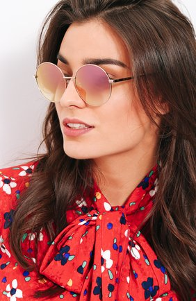 Женские солнцезащитные очки FRENCY&MERCURY золотого цвета, арт. P0L0/SLG-PM | Фото 2