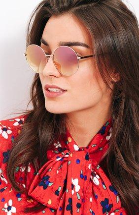 Солнцезащитные очки Frency&Mercury золотые | Фото №1