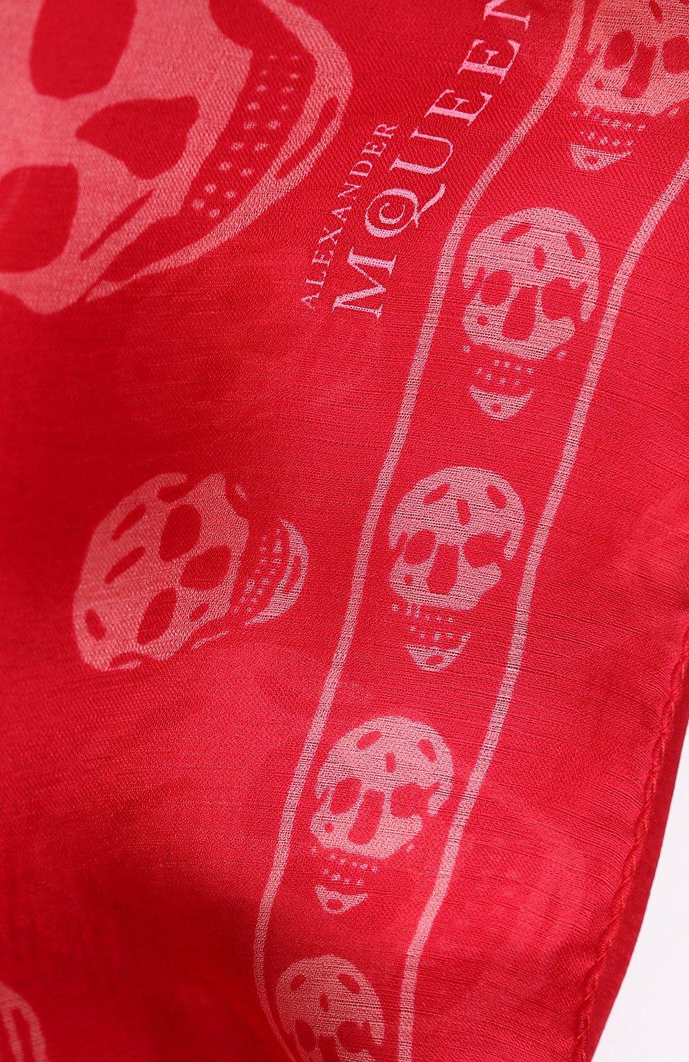Шелковый шарф с принтом в виде черепов   Фото №2