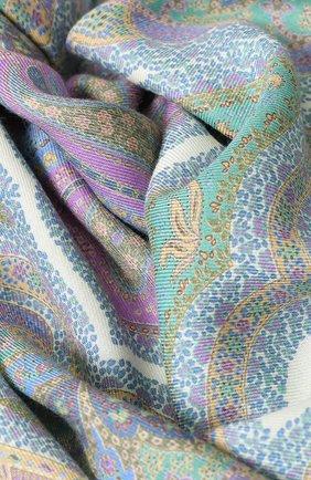 Женский платок из смеси кашемира и шелка с принтом MICHELE BINDA сиреневого цвета, арт. 19WS026823 | Фото 2