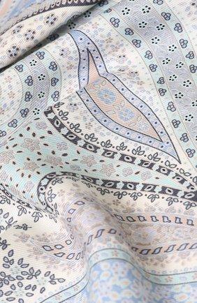 Женский платок из смеси кашемира и шелка с принтом MICHELE BINDA светло-серого цвета, арт. 19WS035915 | Фото 2
