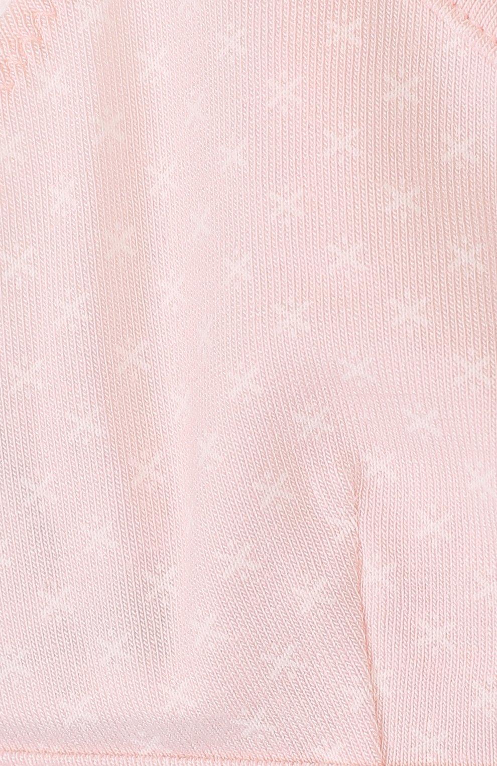 Детский хлопковый бюстгальтер с принтом SANETTA розового цвета, арт. 345112 | Фото 3