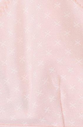 Детский хлопковый бюстгальтер с принтом SANETTA розового цвета, арт. 345112   Фото 3