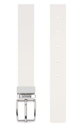 Детский ремень с металлической пряжкой ARMANI JUNIOR белого цвета, арт. 401515/8P527 | Фото 2