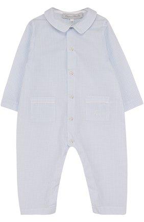 Хлопковая пижама Tartine Et Chocolat голубого цвета   Фото №1