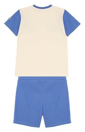 Детский хлопковый комплект из футболки и шорт MONCLER ENFANT белого цвета, арт. D1-951-88102-05-8790A | Фото 2