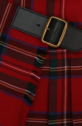 Шерстяная мини-юбка асимметричного кроя с принтом | Фото №3