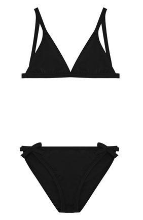 Раздельный купальник с логотипом бренда Sonia Rykiel Enfant черного цвета | Фото №1