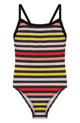 Слитный купальник в полоску Sonia Rykiel Enfant разноцветного цвета | Фото №1