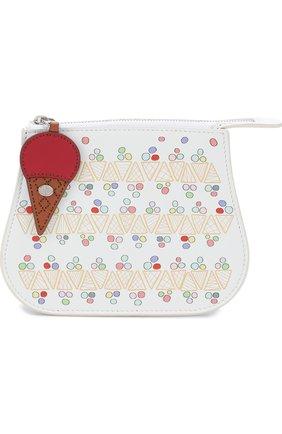 Детская кожаная сумка с принтом LORO PIANA разноцветного цвета, арт. FAI1096 | Фото 1