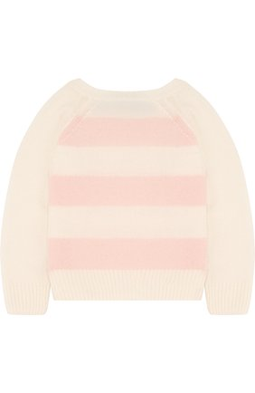 Детский кашемировый свитер в полоску LORO PIANA розового цвета, арт. FAE7160 | Фото 2