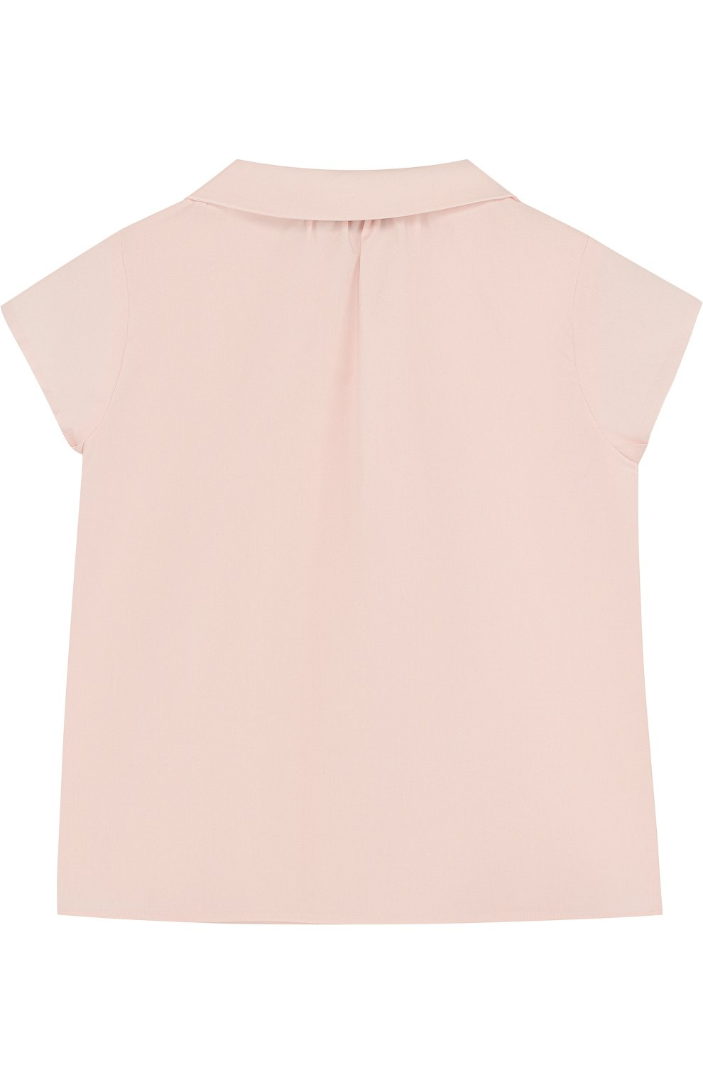 Детский хлопковая блуза с оборкой GUCCI розового цвета, арт. 503772/XB365 | Фото 2