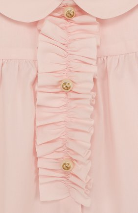 Детский хлопковая блуза с оборкой GUCCI розового цвета, арт. 503772/XB365 | Фото 3