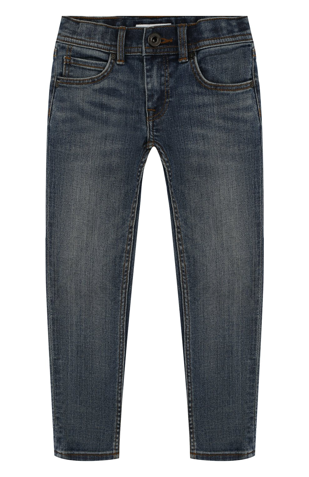 Детские джинсы с декоративными потертостями BURBERRY синего цвета, арт. 4063481 | Фото 1