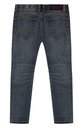 Детские джинсы с декоративными потертостями BURBERRY синего цвета, арт. 4063481 | Фото 2