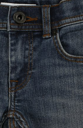 Детские джинсы с декоративными потертостями BURBERRY синего цвета, арт. 4063481 | Фото 3