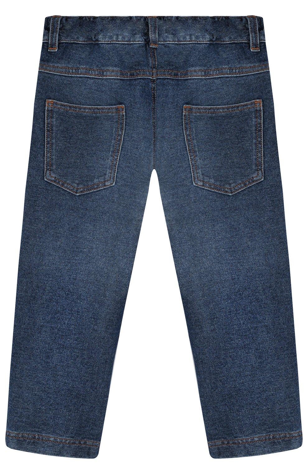 Детские джинсы с декоративными потертостями DOLCE & GABBANA синего цвета, арт. L1JPS8/G70B0 | Фото 2