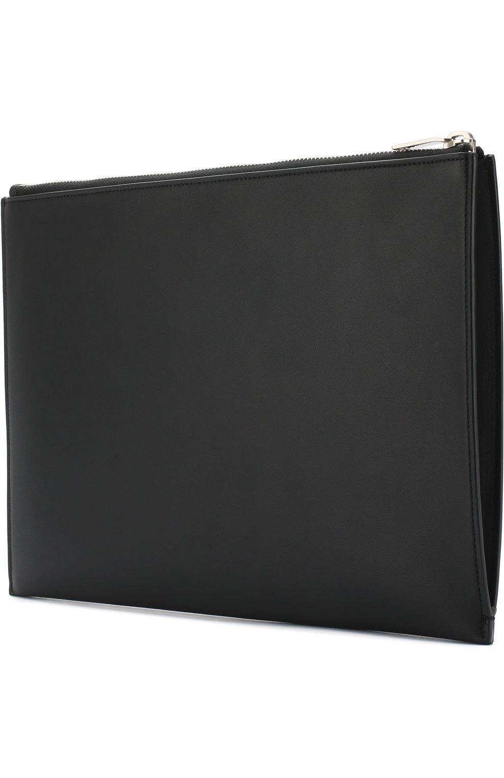 Мужского кожаный чехол для ipad на молнии SAINT LAURENT черного цвета, арт. 397295/0J316 | Фото 2