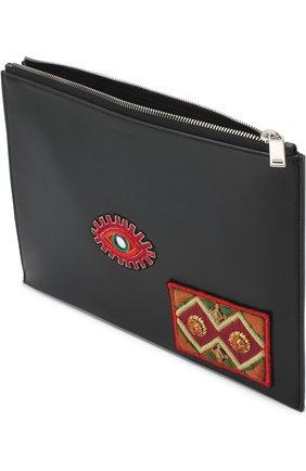 Мужского кожаный чехол для ipad на молнии SAINT LAURENT черного цвета, арт. 397295/0J316 | Фото 3