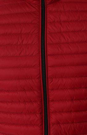 Мужской стеганый пуховый жилет на молнии с воротником-стойкой EMPORIO ARMANI красного цвета, арт. 8N1BB2/1NLEZ | Фото 5