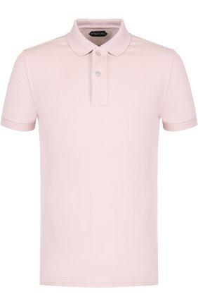 Мужское хлопковое поло с короткими рукавами TOM FORD светло-розового цвета, арт. BP331/TFJ664 | Фото 1