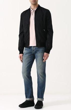 Мужское хлопковое поло с короткими рукавами TOM FORD светло-розового цвета, арт. BP331/TFJ664 | Фото 2
