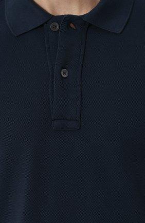 Мужское хлопковое поло с короткими рукавами TOM FORD синего цвета, арт. BP331/TFJ664 | Фото 5