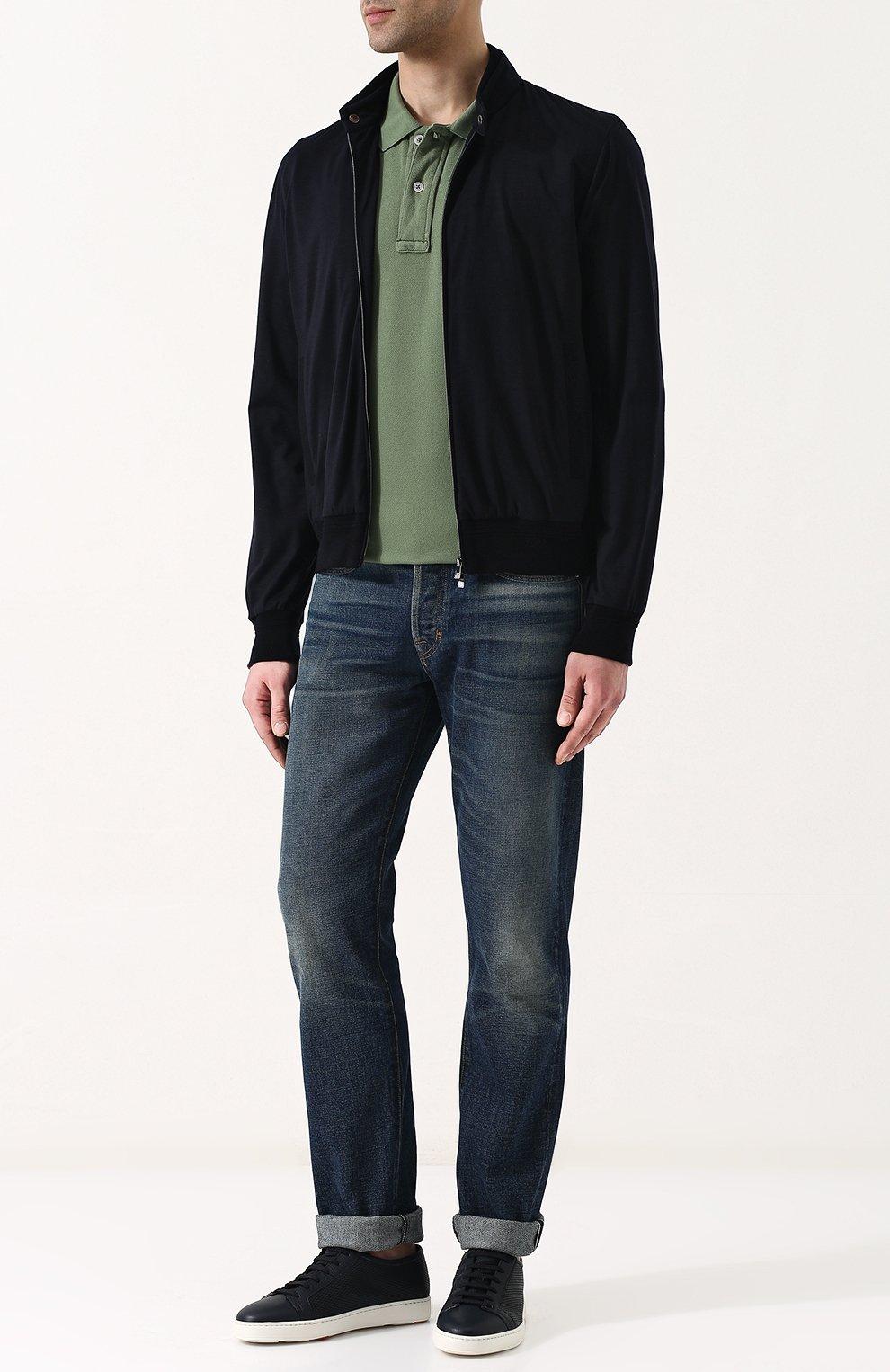 Мужское хлопковое поло с короткими рукавами TOM FORD зеленого цвета, арт. BP331/TFJ664 | Фото 2