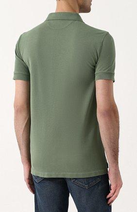 Мужское хлопковое поло с короткими рукавами TOM FORD зеленого цвета, арт. BP331/TFJ664 | Фото 4