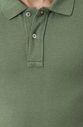 Мужское хлопковое поло с короткими рукавами TOM FORD зеленого цвета, арт. BP331/TFJ664 | Фото 5