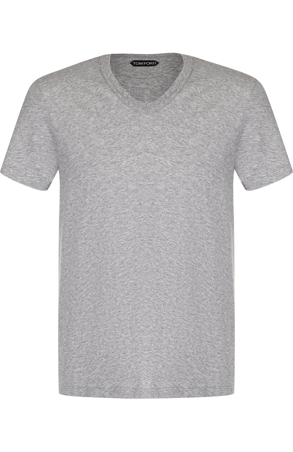 Мужская хлопковая футболка TOM FORD серого цвета, арт. BP402/TFJ894   Фото 1